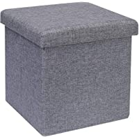 SAMPLUS MALL (LABEL) Collapsible Folding Storage Ottoman Cube Fabric Foot Rest Stool Toys Storage Box for Kids - 30 X 30…