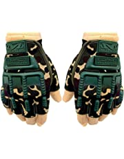 Mra Fashion Microfiber Military Full Palm Protection Weight Lifting Gym Gloves for Men and Women with Wrist Support Wraps