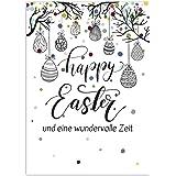 15 x Postkarten zu Ostern mit Umschlägen im Set / Osterkarten modern Modern Bunt Happy Easter / Osterpostkarten