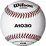 Wilson, Baseball, A1030 Ball, Bianca con cucitura rossa, Per giovani e adulti, Pelle, WTA1030B