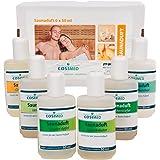 Coffret de dégustation parfums de sauna, parfum de sauna, concentré d'infusion de sauna, 6 bouteilles à 50 ml