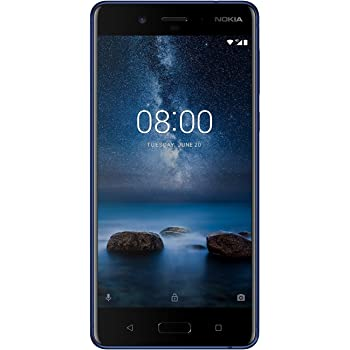 Nokia 8 Smartphone, 64 GB, Blu Temperato [Italia]