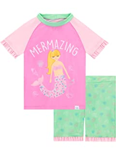 Sun Protection Swim Set ~ Hot Pink 6-7 Yrs Girls Peppa Pig ~ 2 Piece UPF//UV 50