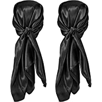 2Pcs 35'' Silk Head Scarf Sleeping Hair Wrapping Night Satin Scarf