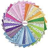 Czemo Patchwork Tissu Lot de 35 pièces 25cm x 25cm Mixtes Textile Tissu Carrés en Coton Imprimé Textiles pour DIY Patchwork B