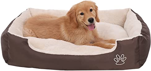 SONGMICS Hundebett Hundeschlafplatz mit Abnehmbarem Bezug S/M/XL