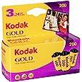 Kodak 6033971 Gold 200 Film (Purple/Yellow) - 3 Rolls - 24 Exposures Per Roll