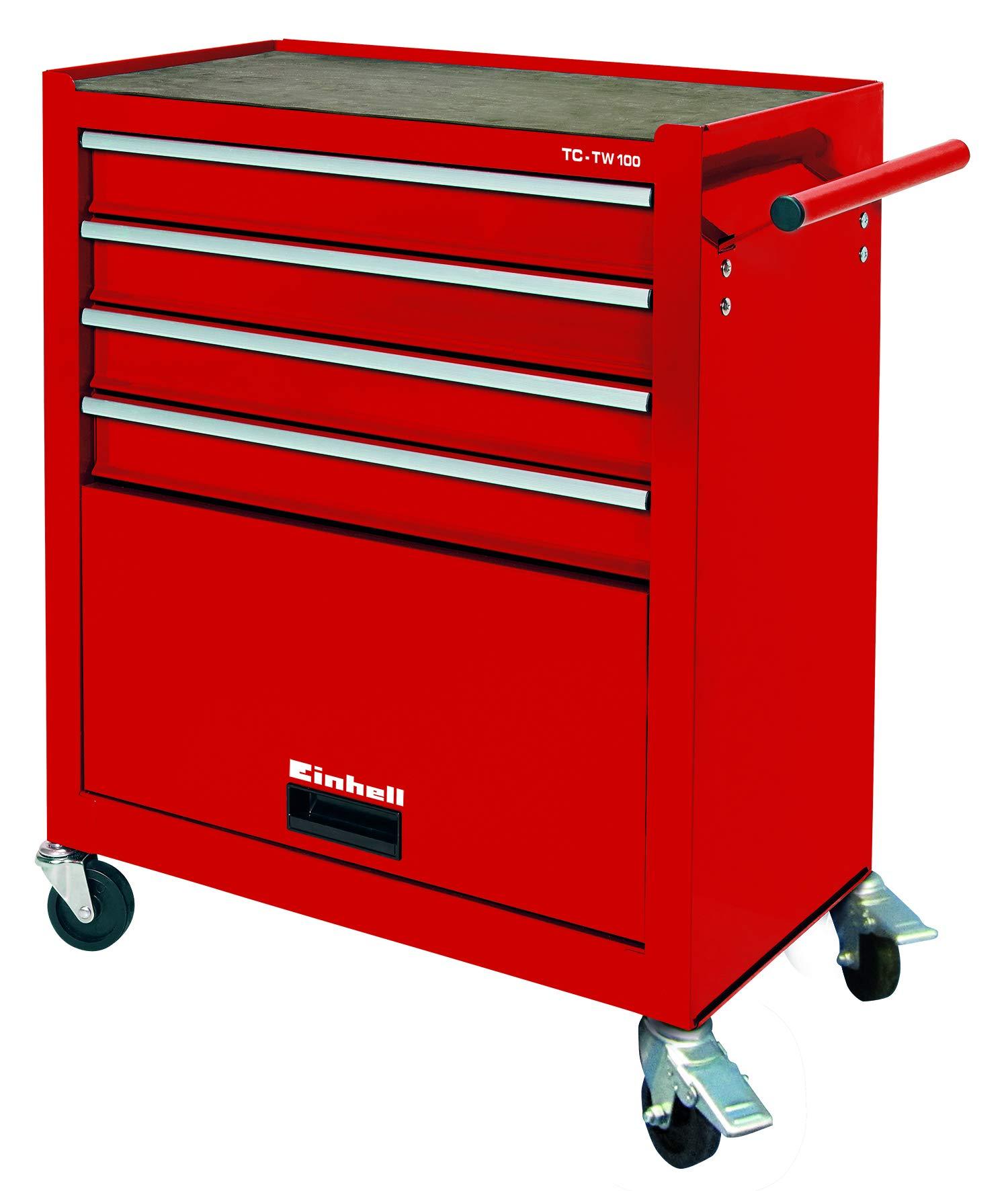 Einhell Werkstattwagen TC-TW 100 (4 Schubladen, 4 drehbare Rollen)