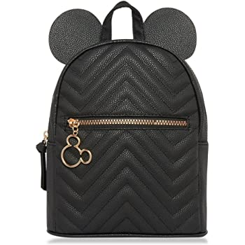 PRIMARK Ladies Girls Womens Licensed Disney Quilted Mickey Mouse Black Ears  Backpack Rucksack School Bag Gym 61834e782a798