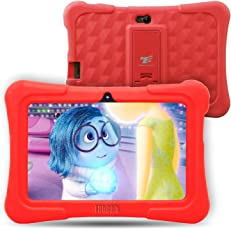 Dragon Touch Y88X Plus Kids Tablet 7 inch Quad Core Android Pc 5.1 Lollipop Ips Screen 1G Ram 8G ROM WiFi Bluetooth Camera Games Unlocked Version of Kidoz & Google Play Pre-Installe
