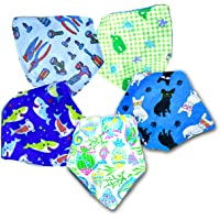 Awadh Chikan Craft baby bandana, soft and drool absorbent bibs, Pack Of 5