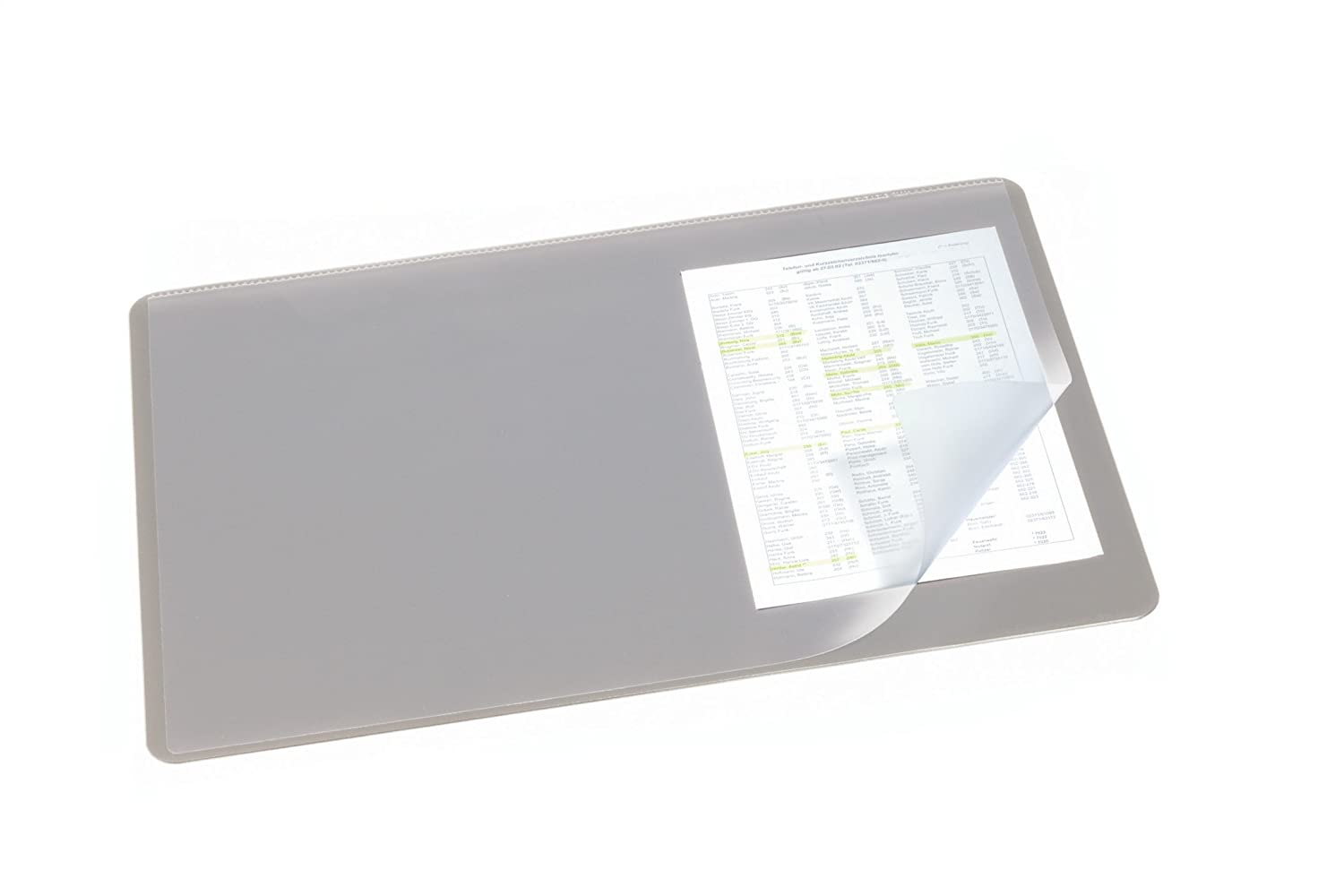 Durable Desk Mat with Transparent Overlay Black Amazoncouk