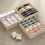 KAIQINSN 24 Grid Multi-size Underwear Organizer Foldable Home Storage Box Non-woven Wardrobe Drawer Closet Organizer For...