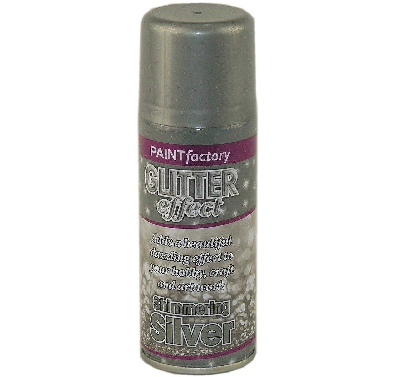 2 x 200ml glitter effect colour aerosol spray paint for Spray glitter for crafts