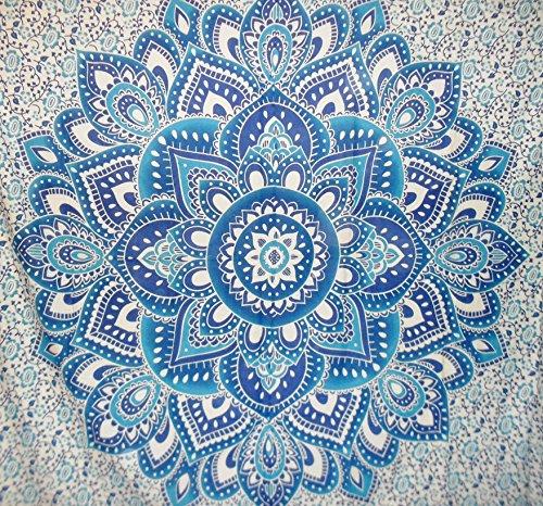Großen Jaipur traditionellen indischen Wandteppich, Lotus Ombre Mandala Wandbehang, Bohemian Schlafsaal, Zimmerdekoration Hippie Picknick Werfen, Boho Bettwäsche, Gypsy Strand Decke -