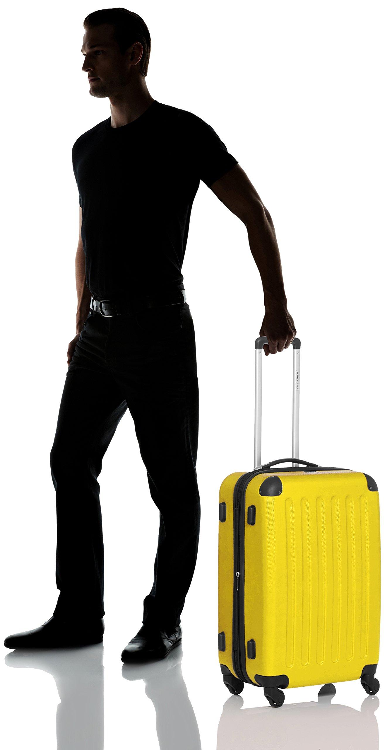 Hauptstadtkoffer-Spree-Hartschalen-Koffer-Koffer-Trolley-Rollkoffer-Reisekoffer-Erweiterbar-TSA-4-Rollen-65-cm-74-Liter-Gelb