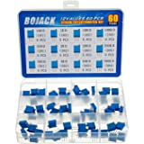 BOJACK 12 valores 60 piezas 100 a 500K ohm 3296W Kit de surtido de potenciómetro de recortador de vueltas múltiples paquete e