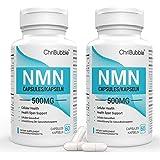 NMN Suppléments 500 mg par capsule   Niveaux NAD + Boost puissants pour soutenir la performance anti-âge et mentale   Supplém
