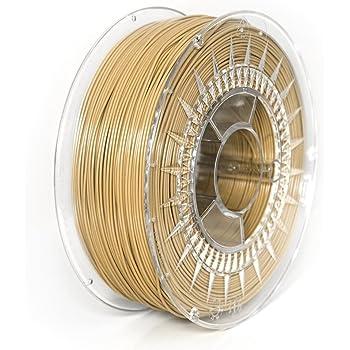 NuNus PETG Filament 1KG - 1,75mm Polyethylenterephthalat Lebensmittelecht Filament *Premium Qualität in verschiedenen Farben geeignet für 3D Drucker, 3D Pen, MakerGear Ultimaker uvm (1.75mm, Beige)