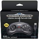 SEGA Mega Drive manette filaire 8 boutons - noir
