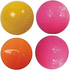 Tima Sports Wind Cricket Ball - Size: 5 (Pack of 4, Multicolor)
