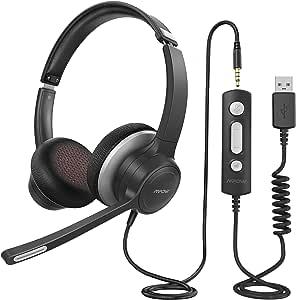 Pc Headset With Microphone Mpow Usb Elektronik