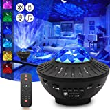 Sky Lite Night Light Laser Projector with Remote Control, 2 in 1 Star Starry Sky Light with LED Nebula Cloud Moving Ocean Wav
