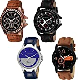 LEVERET Analogue Men & Women's Boys' & Girls' Watch (Assorted Dial Assorted Colored Strap) (Pack of 4)