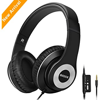 6863bf52eb65e8 Headphones,SMBOX Lightweight Over-Ear Music Headsets with Mic, Wired Active  Noise Cancelling
