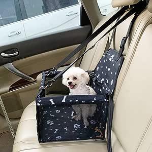 Rinsduall Hunde Autositz Auto Hundesitz Für Kleine Bis Mittlere Hund Mit Hundesicherheitsgurt Autositzbezug Atmungsaktiv Wasserdicht Reißfest Mit Aufbewahrungstasche Für Haustier Reise Haustier