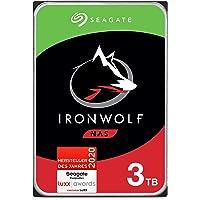 Seagate IronWolf, NAS interne Festplatte 3 TB HDD, 3.5 Zoll, 5900 U/Min, CMR, 64 MB Cache, SATA 6 GB/s, silber, FFP…