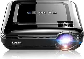 Beamer, OCDAY 1080p FHD Video LCD LED Projektor 3200 Lumen Theaterfilm Efficiency Backyard Outdoor Support Laptop Xbox VGA USB Speaker HDMI für Heimkino TV Laptop Gaming SD
