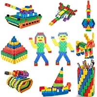 Wow Craft 180+ Building Blocks for Kids Early Education | Creative Bullets Shaped Stem Building Blocks Toy Set with 180…