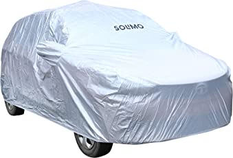 Amazon Brand - Solimo Tata Tiago Waterproof Car Cover (Silver)