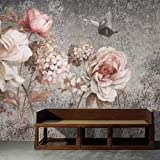 WALLPACL Behang Fotobehang Vintage Olieverfschilderij Bloem Bloemen Fresco Woonkamer Slaapkamer Muur Decor Fotowand Papier Mu
