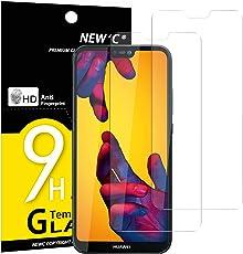 Panzerglas Huawei P20 lite, [2 Stück] NEWC® Tempered Glass 9H Härte, Frei von Kratzern Fingabdrücken und Öl, HD Displayschutzfolie, 0.33mm Ultra-klar, panzerglas schutzfolie für Huawei p20 lite