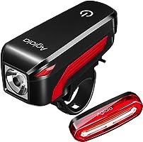Luz para bicicletas Aglaia, lámpara LED Aglaia para bicicletas, carga por USB Luces delanteras y traseras Impermeable 4...