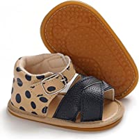 Geagodelia Fashion Baby Summer Newborn Infant Baby Girls Boys Sandals Solid Non-slip PU Leather Breathable Toddler 0-18M