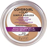 COVERGIRL & Olay Simply Ageless Instant Wrinkle-Defying Foundation, Buff Beige, 0.44 Fl Oz (Pack of 1)