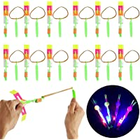Promote Trader Flying Toy Sling Shot Arrow Rocket Outdoor Flyer - 18 Pcs/Set Party Favor Return Gifts for 5 Years and…