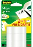Scotch 8-1915P3 Klebeband Promotion 3 Rollen mattes und unsichtbares Magic, 19 mm x 15 m