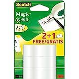 Scotch 8-1915R2+1 Matt Magic Klistertejp, Genomskinlig, 19 mm x 15 m, Paket med 3