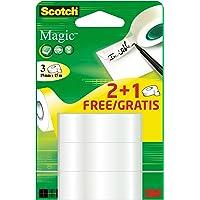 Scotch promotion 8-1915R2+1 de 3 rouleaux de ruban adhésif mat invisible réagissant sous dispositif et magic 19 mm x 15…