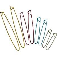 Lot de 8 arrête Mailles en Aluminium Aiguilles à Tricoter Crochet Outils Fondamentaux 4 Tailles Couleur Aléatoire
