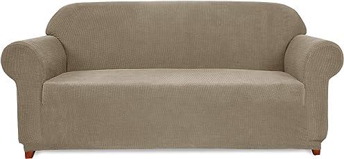 Subrtex kariert Sofabezug Sofahusse Sesselbezug Stretchhusse Sofaüberwurf Couchhusse Spannbezug in Verschiedenen Farben
