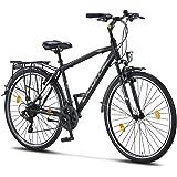 Licorne Bike Life M-V-ATB Premium trekkingfiets, 28 inch, voor heren, jongens, dames en heren, 21 versnellingen