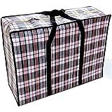 Cabas Oxford tissuSac d'Emballage Bagage Imperméable Sac de Rangement Multi-Usages Grande Capacité treillis Noir (30…