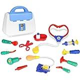 Zooawa Doktor-Sets täuschen Spiel, Arzt und Krankenschwester vor Rollen-Spiel-Spielzeug mit handlicher Tragetasche für Jungen und Mädchen, Kinder und Kleinkinder über 3 Jahre alt, Bunt