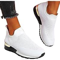 ADOSSAC Femmes Chaussures de Course Marche Sport Casual Athlétiques Sneaker Confortable Respirante Fitness Tennis…