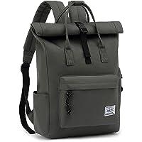 TAN.TOMI Laptop Rucksack, Rucksack Laptop Tasche 15,6 Zoll, Rucksack Damen und Herren weit öffenbar, Rolltop Rucksack…